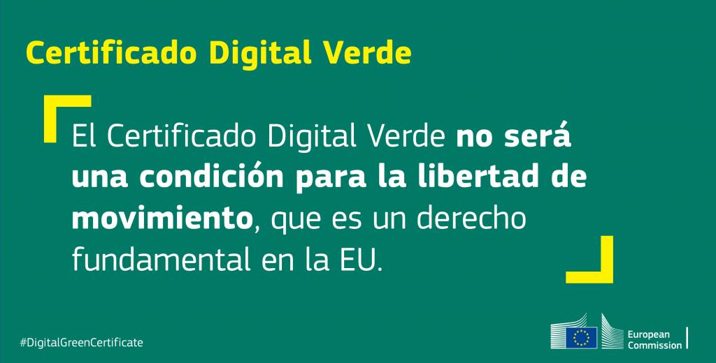 Certificado digital verde